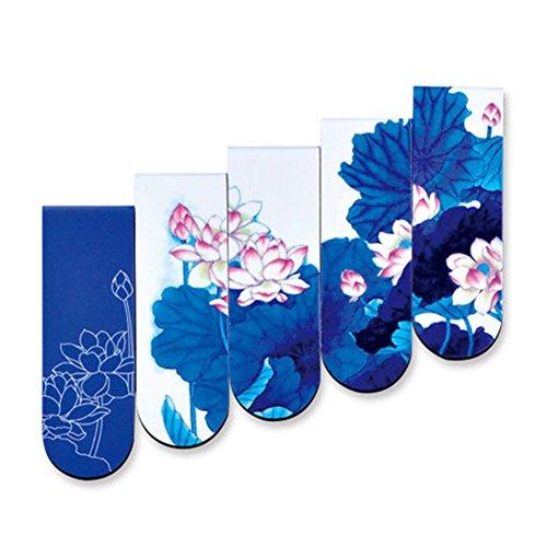 Chinesisch Stil Bookmark Magnetische LesezeichenKreative GeschenkeBlaue Und Weiße Porzellankunst-Blau