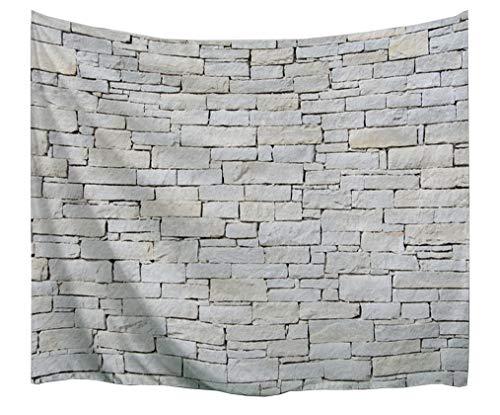 """izielad Tapisserie Wandteppiche Marmor Tapisserie Ziegel Schiefer Steinmauer mit Felsen Abstract Home Decor Tapisserie Wandbehang für Schlafzimmer Wohnzimmer Dorm 153x102cm 60\""""x40\"""""""
