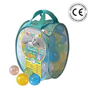 LUDI - Sac de 75 balles multicolores souples en plastique anti-écrasement. A partir de 6 mois. Balles à lancer, faire rouler et pour piscine à balles. Diamètre : 6 cm - réf. 30016 (B06X91129N) | Amazon price tracker / tracking, Amazon price history charts, Amazon price watches, Amazon price drop alerts