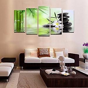 [Free Shipping] No Frame Green Huge Modern Abstract Wall Decoration Art Oil Painting Canvas Set BML® Brand // Sin marco verde enorme abstracta moderna decoración de la pared del arte pintura al óleo lienzo conjunto en by BML