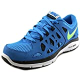 Nike Dual Fusion Run 2 (GS), Jungen Laufschuhe, Mehrfarbig - Blau/Schwarz (Blue Hero/Flsh Lm-Anthrct-Blk) - Größe: 37,5 EU
