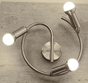 Nino mia lED design en spirale 3 ampoules mia 81959301 desigen luminaire plafonnier