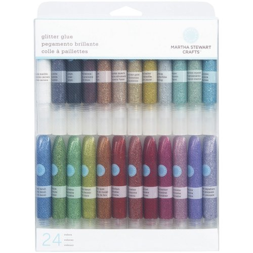 Cheapest Martha Stewart Crafts Glitter Glue Set, Pack of 24, Multi-Colour Online