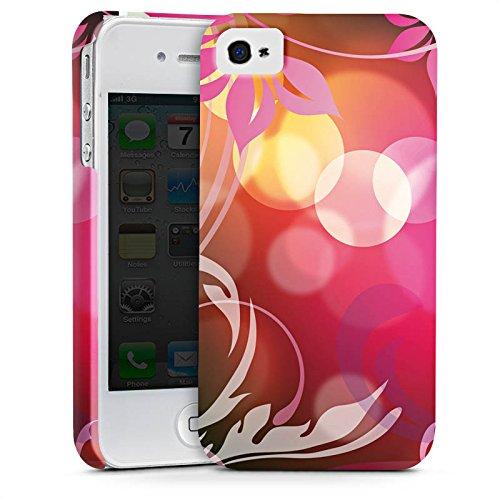 Apple iPhone X Silikon Hülle Case Schutzhülle Blumen Bunt Floral Premium Case glänzend