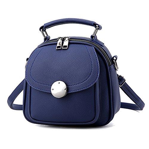 Mini Schwarzer Rucksack Phone Rucksäcke PU Leder Backpack Handtasche Für Frauen Mädchen Daypack