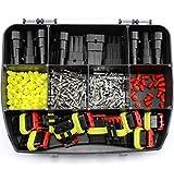 SET 11 AMP Superseal Set Auto Elektrik 0,75 1,5 mm² 3-polig Sortiment Box Kasten für LKW Motorrad