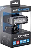 SP GADGETS POV LIGHT 2.0, Unterwasser-Licht LED für GoPro und Actionpro X8, Taucher Video Leuchte, Tauchlampe Scuba Dive Light, 40m Wasserdicht, Max. 600 Lumen