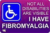 disability Invisible illness BUMPER STICKER fibromyalgia - stop other judging you A6 size