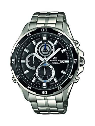 Casio Edifice Herrenarmbanduhr EFR-547D-1AVUEF, schwarz, massives Edelstahlgehäuse und Armband, 10 BAR -