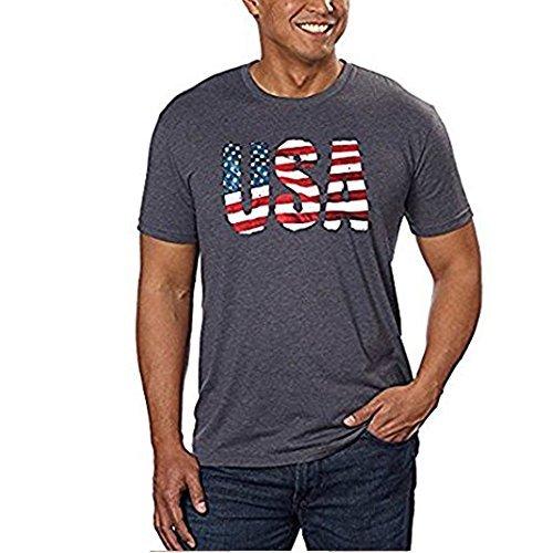 GALT USA Signature Herren T-Shirt Graphic Tee - Grau - Groß -