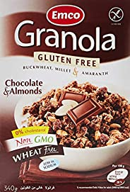 Emco Gluten Free Granola, Chocolate And Almonds, 340 gm