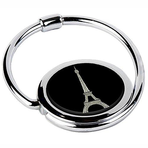 Miss Kha - Accroche Sac Pliable Tour Eiffel Noire