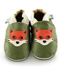 Snuggle Feet - Chaussons Bébé en Cuir Doux - Renard