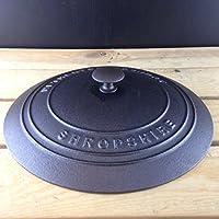 Netherton Foundry tapa de hierro fundido con hierro fundido pomo