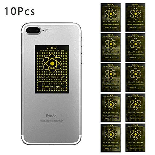 EMF-Schutz-Aufkleber: EMF-Schutzfolie, passend für alle Handys, iPad, iPod, MacBook, Negative Ionen-Generatoren, Strahlungsschutz, EMF-Blocker-Neutralisierer, 10 Stück Cell-shield