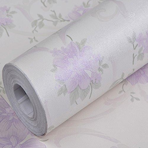REAGONE Europäischen PVC Selbstklebende Tapete Pastorale Gemütliches  Wohnzimmer Schlafzimmer Tapete Hintergrund Wasserdicht Großes, 10