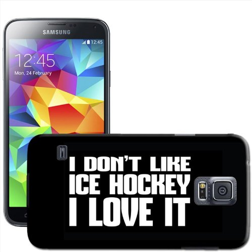 Liebe Sport Hartschale für Samsung Modelle, Ice Hockey, Samsung Galaxy S5 (SM-G900F) (Ice-modell)