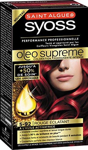 syoss saint algue olo suprme coloration permanente 5 92 rouge clatant - Coloration Saint Algue