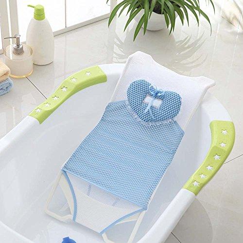 Nicht rutschender Sicherheits-Badesitz und Badematte für Babys, für die Badewanne und Dusche, Stütze, Netz, Schlinge, Hängematte