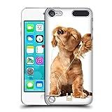Head Case Designs Jeune Chiot Écoutant Musique Animaux Drôles Étui Coque Rigide Pour Apple iPod Touch 5G 5th Gen 6G 6th Gen