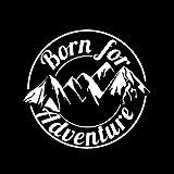 Dandeliondeme Cool Born for Adventure Mountain Reflektierende Aufkleber Sticker Auto Motorrad Dekor für Notebook Skateboard Snowboard Gepäck Koffer MacBook Auto Fahrrad Stoßstange White