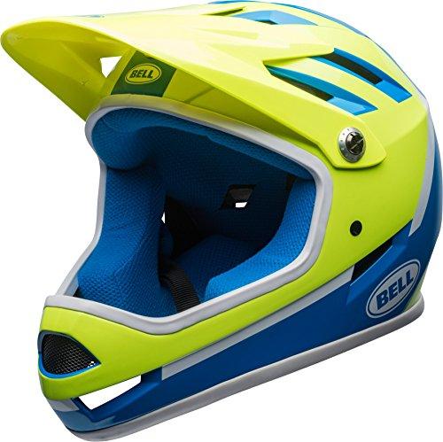 Bell Sanction Kinder DH Fahrrad Helm blau/gelb 2018: Größe: S (52-54cm)