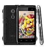HOMTOM HT20 4.7 Zoll 4G-LTE-Smartphone Android 6.0 Quad Core Dual SIM Outdoor Handy Ohne Vertrag 2GB RAM 16GB ROM Touch ID Smart Gestures OTG OTA HotKnot Fingerprint GPS schwarz