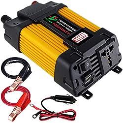 GUOXIN Convertisseur 12V 220V 1000W Power Inverter Onduleur DC vers AC Convertisseur Voiture de Tension Adaptateur avec LED écran Double USB Chargeur Ports 5V/4.2A Voiture Allume Cigare