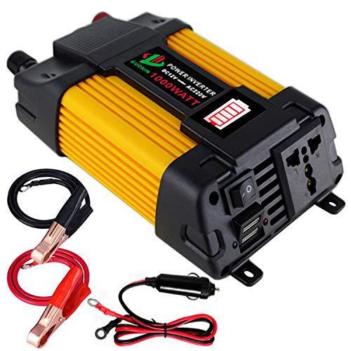 Sunsbell 5000 W Solar Power Inverter LED DC 12 V au AC 220 V convertisseur Onde sinuso/ïdale Rouge