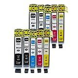 10 Bubprint inktpatronen, compatibel met HP 364XL voor DeskJet D5460 PhotoSmart 7510 7520 e-All-in-One B8550 C5324 C5380 C6324 C6380 Premium C309g C310a C410 C410b Fax C309a