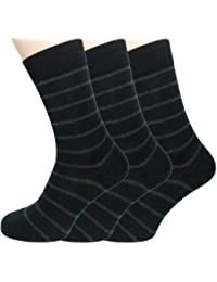 Loonysocks, 3 Pair of Our Best Business Socks Made of Super Soft Ascona Merino Wool, Mens Black & Grey Socks