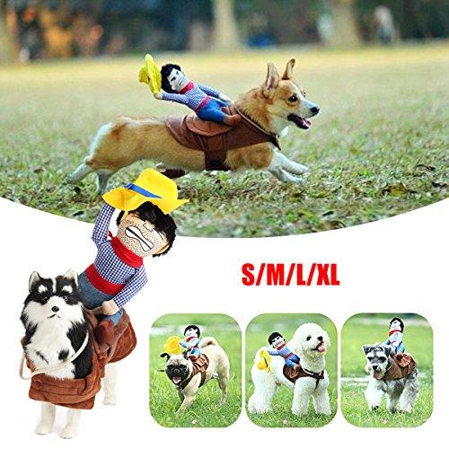 bureze Pet Puppy Hund mit Pferd Cowboy Kostüme