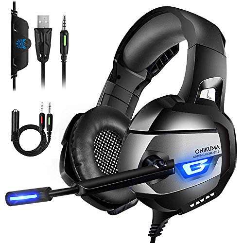 Auriculares Gaming PS4, Cascos Gaming con Micrófono Reducción de Ruido para PS4,...