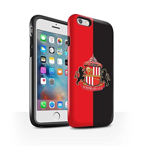 Officiel Sunderland AFC Coque / Brillant Robuste Antichoc Etui pour Apple iPhone 7 Plus / Or Design / SAFC Crête Club Football Collection Rouge/Noir