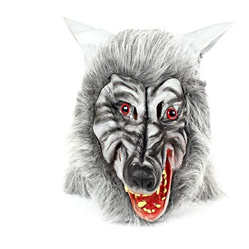 ske Halloween Kostüme Halloween Requisiten Simulation Tier Maske Karneval Cosplay Party Supplies, Freunde (grau) ()