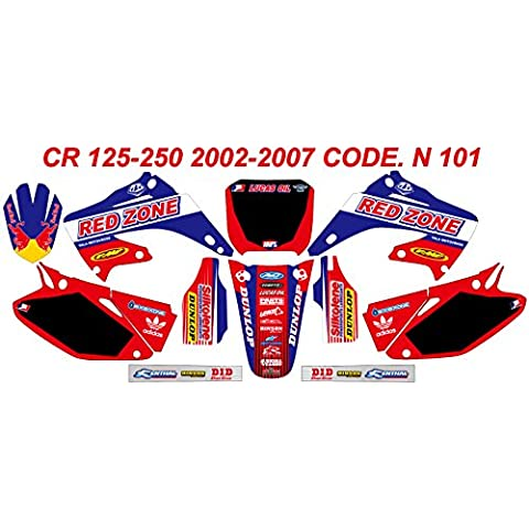 N 101Honda CR 125–2502002–2007gráficos Kit