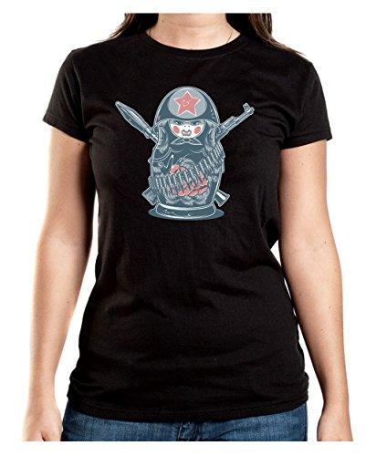 Certified Freak Military Matroschka T-Shirt Girls Black S