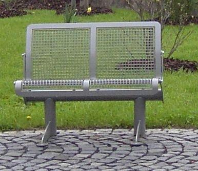 Sitzbank, ergonomisch - 4-er Bank - Gestell tannengrün - Bank Gartenbank Holzbank Parkbank Ruhebank Sitzbank
