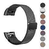 Fitbit Charge 2 Armband, Swees Milanese Edelstahl Replacement Wrist Band Strap Watchband Uhrband Uhrenarmband mit Magnet-Verschluss und Metallschließe für Fitbit Charge 2 Smartwatch Small (5.5