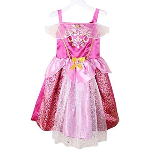 MissFox Vestido De Princesa Impresión Cenicienta Disfraces Cosplay Costume Para Niñas