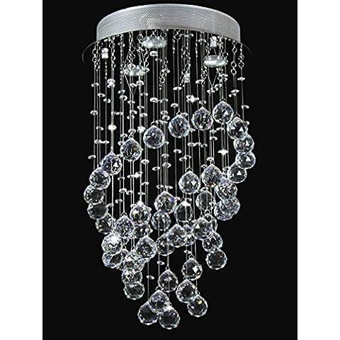 Dst moderna annularity cristallo trasparente gioiello, 3 luci illuminazione a soffitto luce della lampada lampadario a sospensione per soggiorno pranzo Camera da letto, formato D35cm H61cm