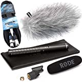 Rode Micro 1 Tube directionnel richt Appareil photo NTG keepdrum Protection anti-vent WS de Wh + Câble microphone XLR 6 m