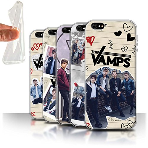 Offiziell The Vamps Hülle / Gel TPU Case für Apple iPhone 6 / Pack 5Pcs Muster / The Vamps Doodle Buch Kollektion Pack 5Pcs