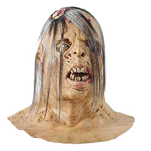 Auf Adult Witze Sie Kostüm - DSWIME Halloween Zombie Adult ungiftig PVC Maske Lustige Scary Devil Zombie Dress Up Requisiten Latex Horror Gesichtsmaske Kostüm Party