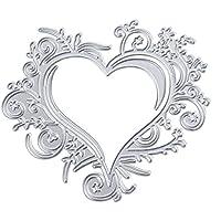 Culater Plantillas para Estarcir Scrapbooking Gofrado Troquelado Kit Almohadilla de Papel Dies Corte en Relieve Grabado (Amor)