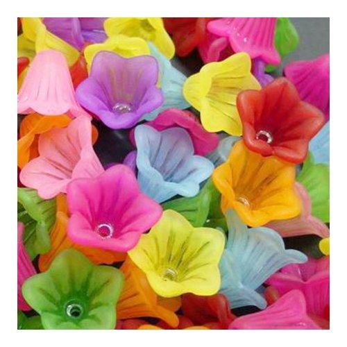 Charming Beads Paket 70+ Gemischt Lucite 10 x 15mm Blume Perlen HA25945