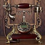 Motesuvar Antike Telefon gesetzt, europäische Telefon, Retro, Telefon, Amerikanische feste Ebene, aktualisierte Version (mechanische Klingelton, Klingelton Option)