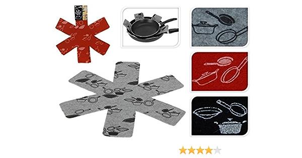 Topfschutz-Pads separate und sch/ützen Oberfl/ächen von Kochgeschirr Topf- und Pfannen-Schutzfolien 6 pcs Wie abgebildet 6 St/ück Filz-gepolstert