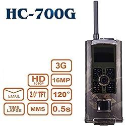 kaersishop HC-700g 3G Caméra vidéo étanche pour la surveillance, supporte 3G Carte SIM/IMEI bekommen echtzeite Photos, 6piles alcalines AA et temps de veille jusqu'à 6mois