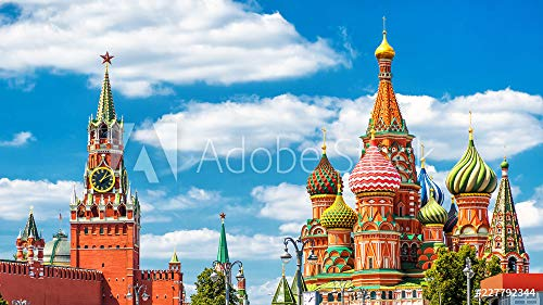 druck-shop24 Wunschmotiv: Moscow Kremlin and St Basil's Cathedral on The Red Square #227792344 - Bild auf Forex-Platte - 3:2-60 x 40 cm / 40 x 60 cm Red Square Platte